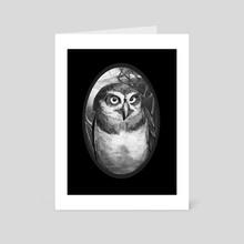 Owl - Art Card by Tom Cech