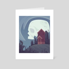 Skull Moon - Art Card by Shanelle O