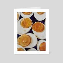 Boiled Eggs - Art Card by Maria Titan