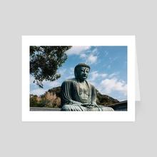 The Great Buddha I - Art Card by Luna Howell