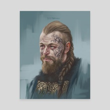King Harald Vikings - Canvas by Candra Hope