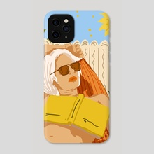 I love to travel but when I really want to escape, I read a book - Phone Case by 83 Oranges