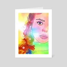 Half Face - Art Card by Zeren Dogan