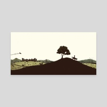 Nico's Journey - Canvas by Elisabeth Alba