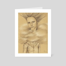 Head in the clouds - Art Card by Lisinka
