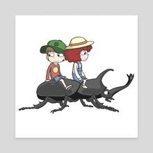 Beetle Ride - Canvas by Paul Warner