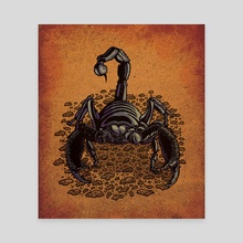 Scorpion - Canvas by Carl Conway