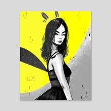 Bunny Fairy - Acrylic by Looona Lou