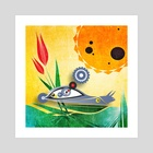 Solar-speed snail - Art Print by Vogdux Sergik
