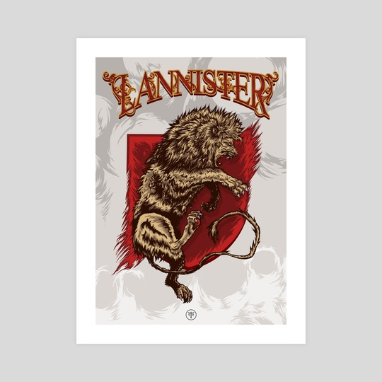 Lannister shield / Game of thrones by Jhony Caballero