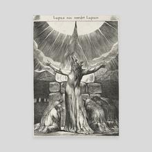Lycanthrope Engraving - Canvas by Eduardo Valdés-Hevia