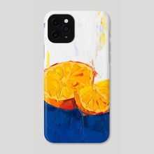A Very Orange Painting - Phone Case by Eric Buchmann