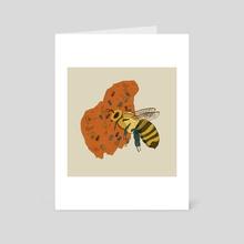 Bee - Art Card by Lauren Dirgo