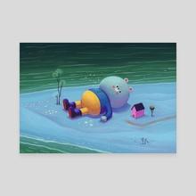 star beach - Canvas by Daniel Shaffer