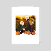 Pumpkin Patch - Art Card by Jenny  Gallagher