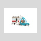 Camper Trailer - Art Print by Jez Tuya