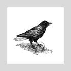Crow - Art Print by Jackie Roche