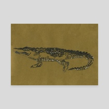 Alligator - Canvas by Indré Bankauskaité