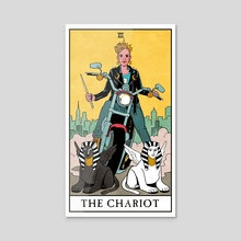 The Chariot - Modern Witch Tarot - Acrylic by Lisa Sterle