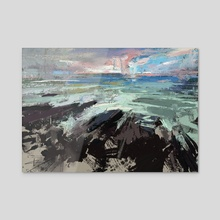 Rocky Shores  - Acrylic by Allison Gloe