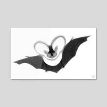 Spotted Bat - Acrylic by Melissa  van der Paardt