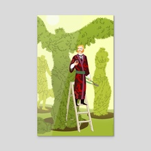 The Gardener - Acrylic by Kali Ciesemier