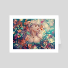 Flowers in the Sea - Art Card by ena beleno