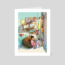 Afternoon Reading - Art Card by Louise Liang