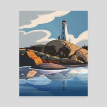 Peggy's Cove - Canvas by David Yu