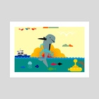 Sea and beach 25 - Art Print by Michal Eyal