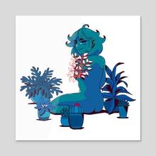 New Bloom 02 - Acrylic by Juju Bear