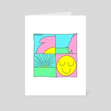 Sunshine - Art Card by High Smileson