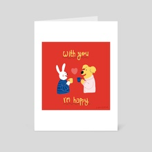 with you i'm happy - Art Card by Cam Estela