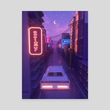 Driving away - Canvas by Saida Saetgareeva