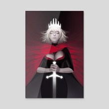 Red Queen - Acrylic by Jessica Muraca
