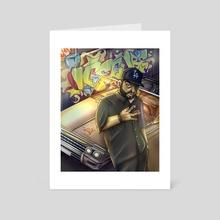 Ice Cube Rapper Graffiti Illustration  - Art Card by Kind Gotospace
