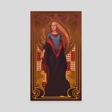 Ginny Weasley Gryffindor - Canvas by Mali Ware