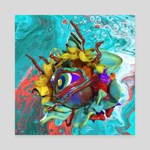 Flying magic eye 1 - Canvas by Nadya Plyamko