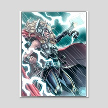 Jane Foster Thor - Acrylic by Duh Dude