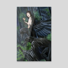 Crow Queen - Acrylic by William Jamison