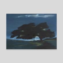 Live Oak At Night - Canvas by Patti Tronolone