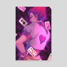Hisoka - Canvas by sleepycrayon