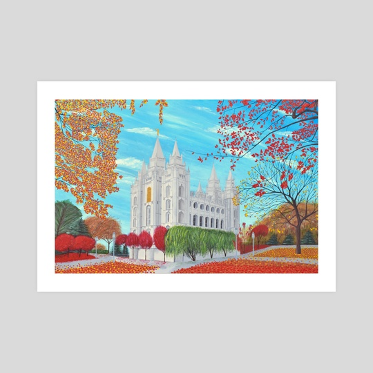 Autumn Salt Lake City, Utah LDS Temple by Brian Sloan