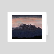 Mountainside Sunset - Art Card by Anais Cantres