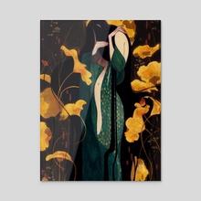 Birth of the mermaid - Acrylic by Gigi