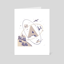 """A"" - Art Card by Timothy J. Reynolds"