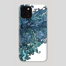 Betta Splendens - Blue - Phone Case by Marjorie Serra