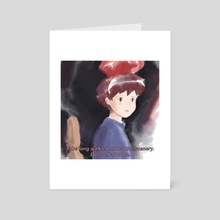 Kiki's Art Block - two - Art Card by Kristina Nelson