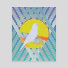 Bluebird waits summer - Canvas by Ferran Sirvent