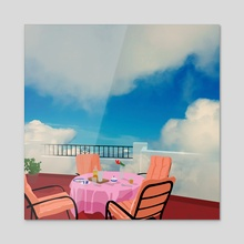 Breakfast with a view - Acrylic by Emanuele Borasco